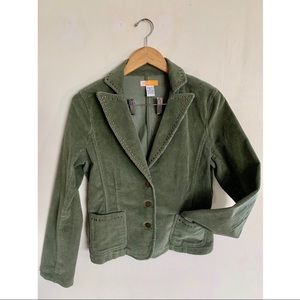 NEW!! Tulle By Anthropology Olive Cord Blazer